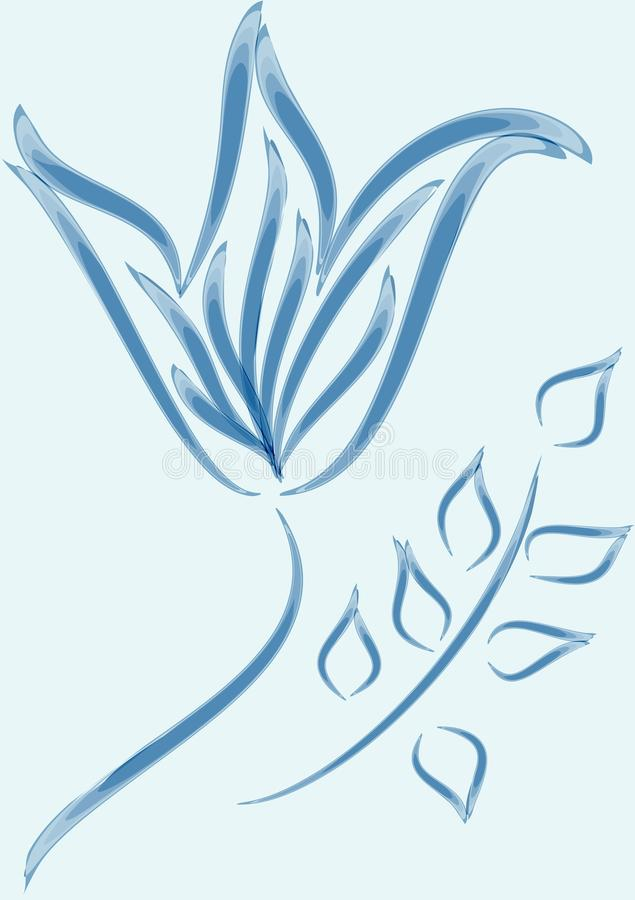 Download Blue ornament flower stock vector. Image of tenderness - 14322686