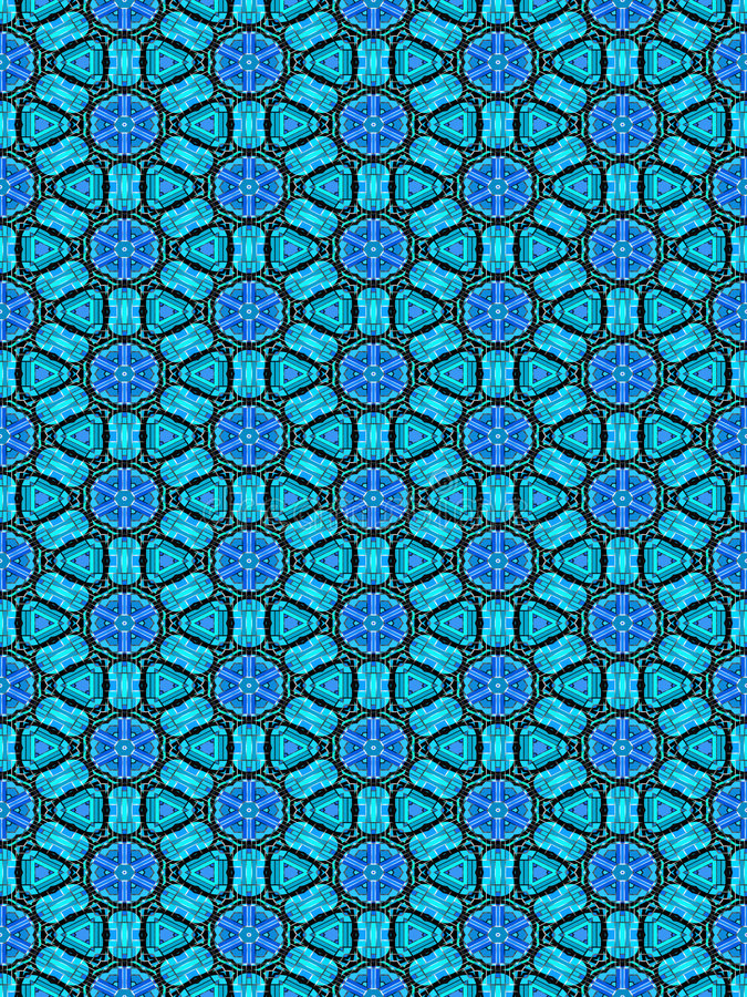 Blue ornament pattern stock illustration
