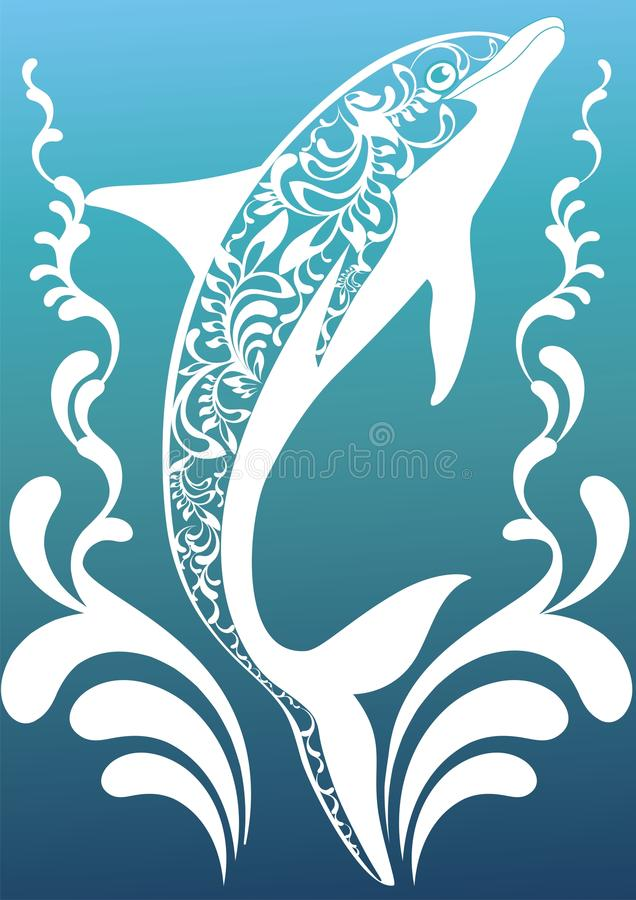 Free Blue Ornamental Dolphin Royalty Free Stock Photography - 23175797