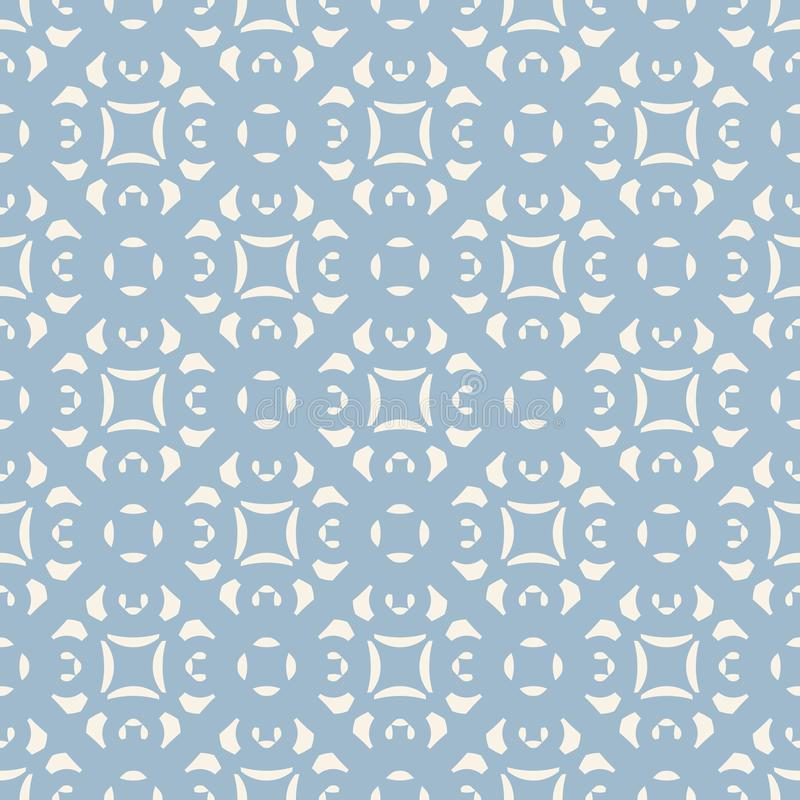 Blue ornamental floral seamless pattern. Geometric background in Damask style. stock illustration
