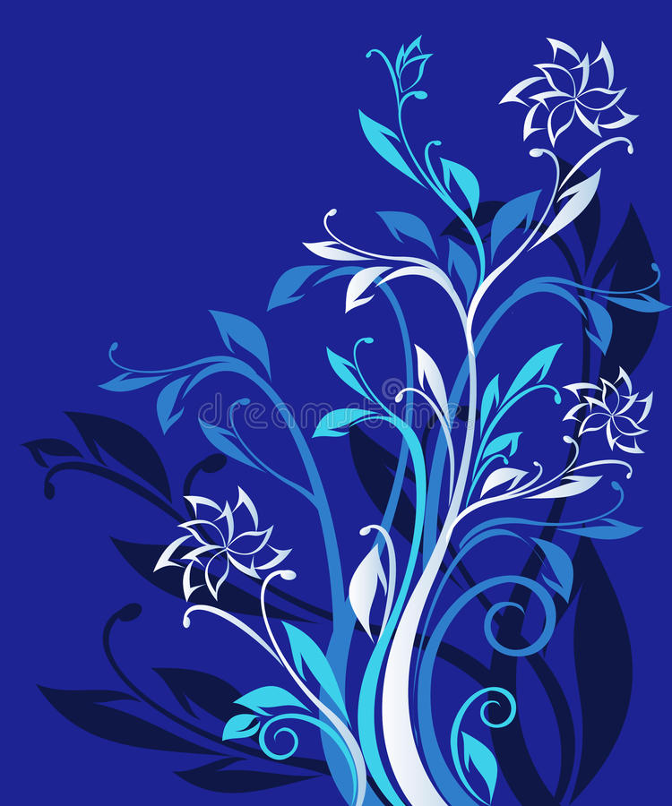 Free Blue Ornate Floral Pattern Stock Photos - 20318783