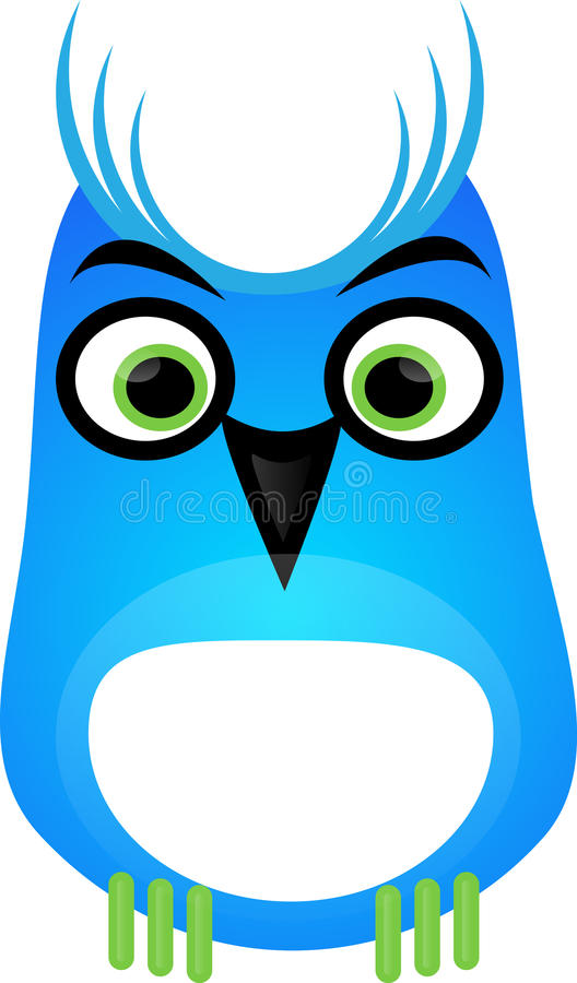 Download Blue owl stock vector. Illustration of clever, blue, round - 10901432