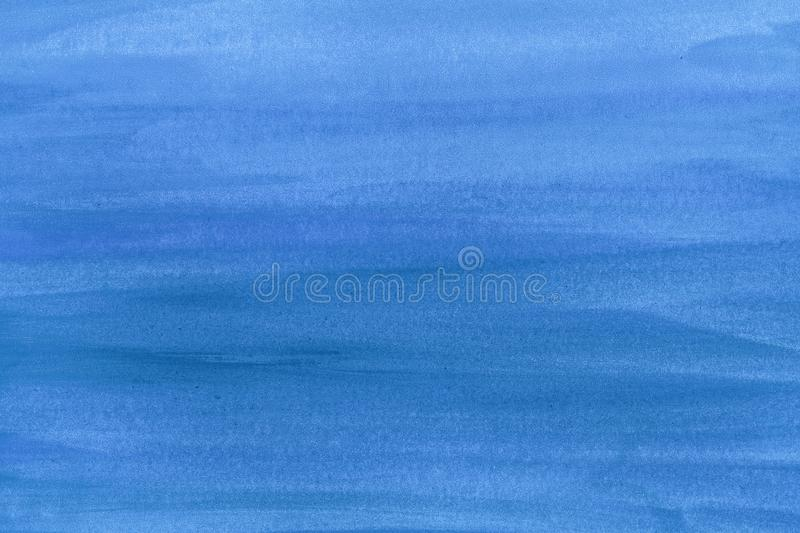 Blue paint brush stroke texture background on paper. Watercolor texture for creative wallpaper or design artwork. stock images