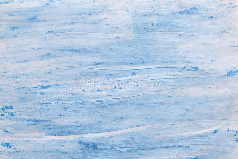 Blue paint brush strokes abstract paper background royalty free stock images