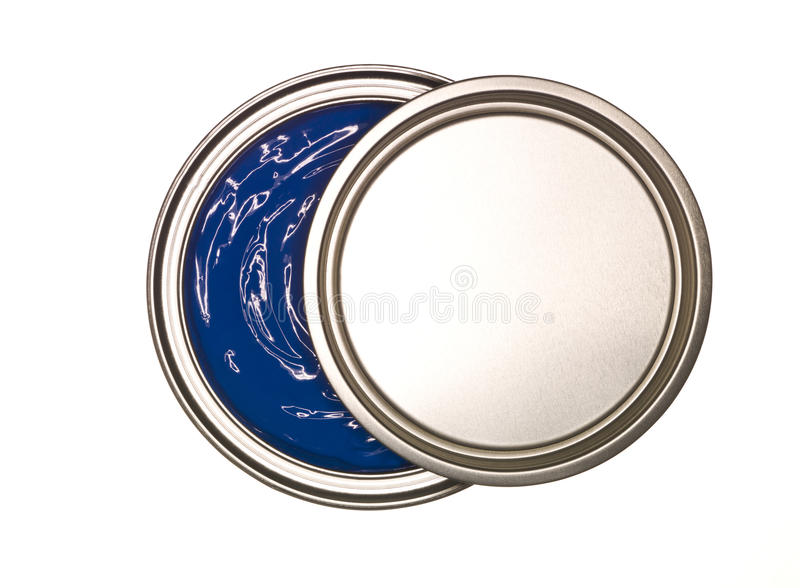 Blue Paint can royalty free stock image