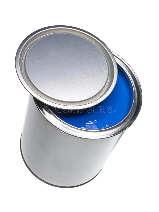 Darkbluepaintbrush: Blue Paint Can Stock Photo. Image Of Color, Liquid
