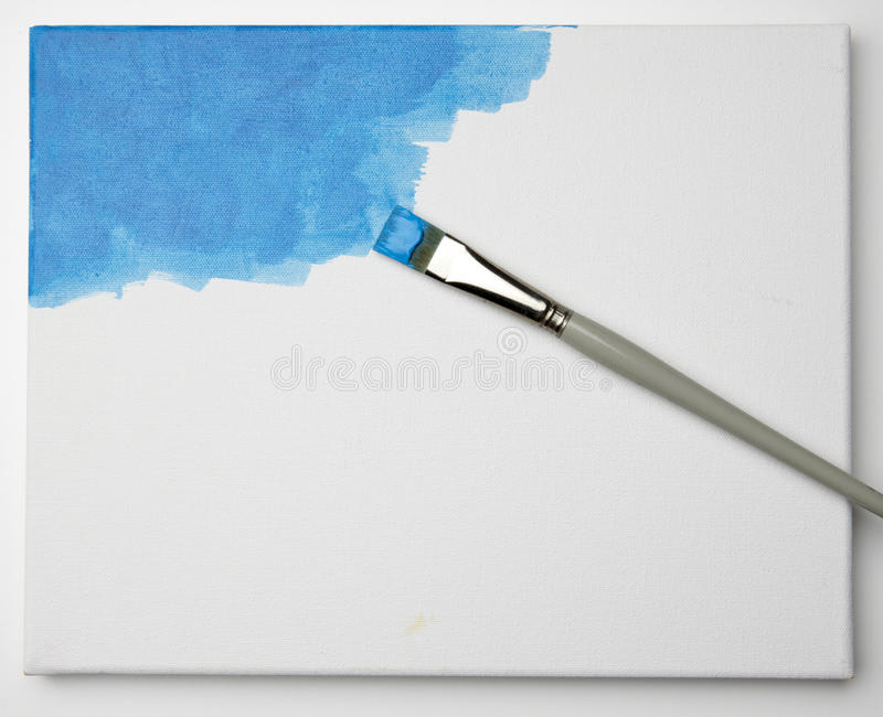 Download Blue paint on canvas stock photo. Image of stretched - 10194860