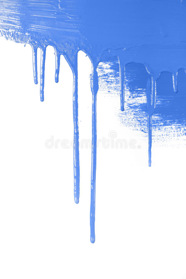 Download Blue Paint  Flows / Isolated On White Background With Copy Space Stock Photos - Image: 29914963