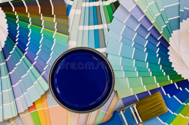 Download Blue paint sample. stock image. Image of bright, collection - 33583439