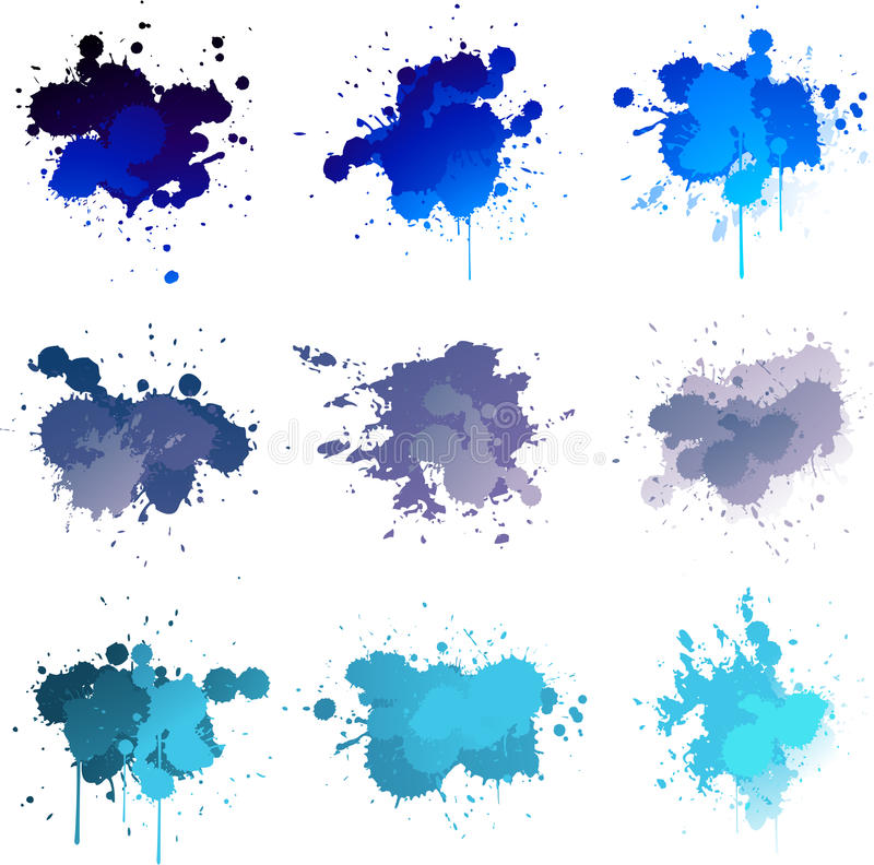 Download Blue paint splat stock illustration. Image of color, colorful - 25188385