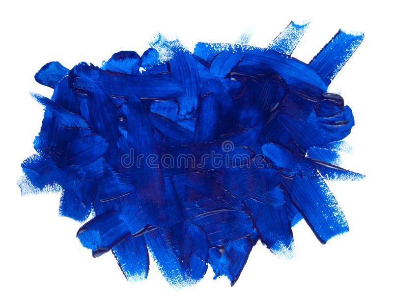 Blue paint stroke royalty free stock photos
