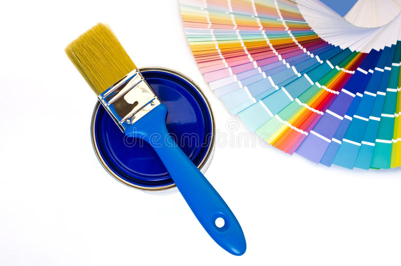 Blue Paint Swatches blue paint and swatches. royalty free stock photo - image: 34143195