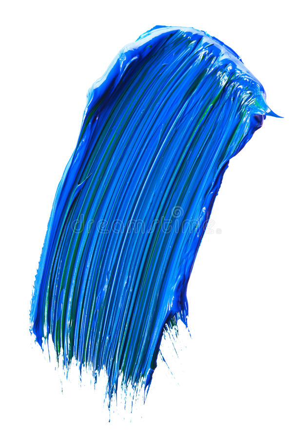 Blue paint tray. Isolated over white stock photography