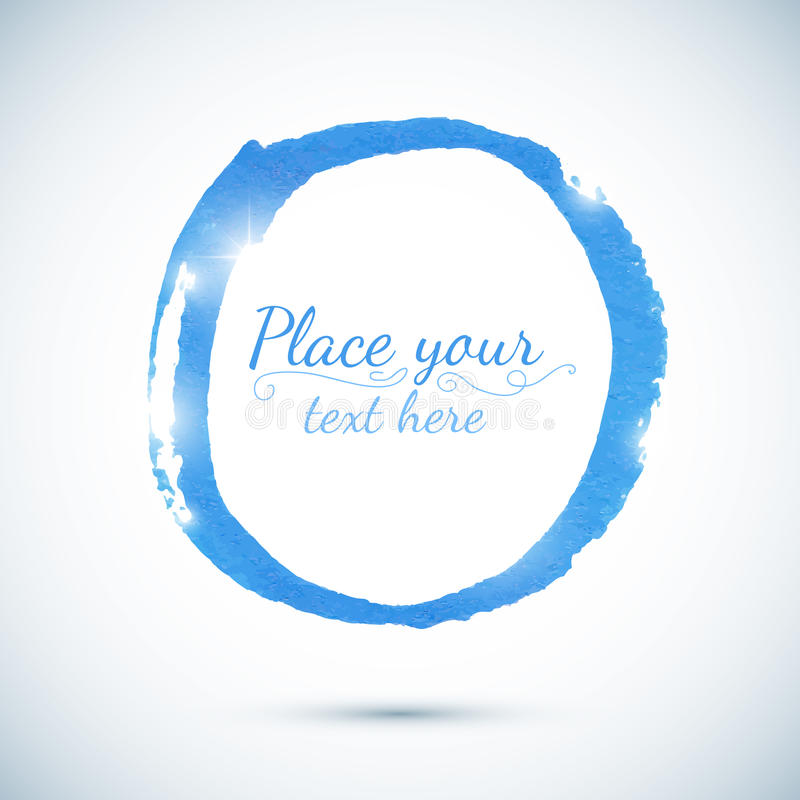 Free Blue Paint Vector Circle Template For Your Text Stock Images - 33199084