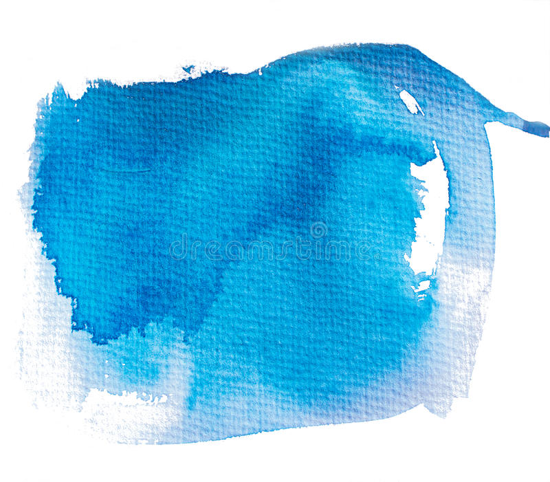 Blue painted abstract spot stock illustration