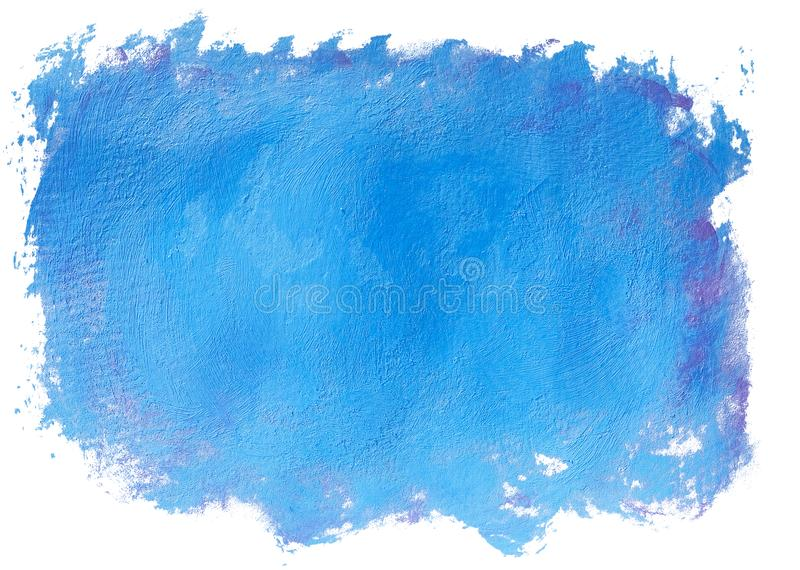 Blue painted blob royalty free stock photography