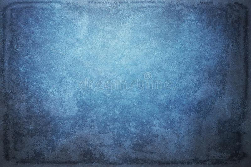 Blue painted canvas or muslin fabric cloth studio backdrop or ba. Ckground stock images