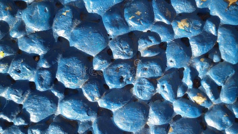 Blue stones background. Little stones texture. stock photography