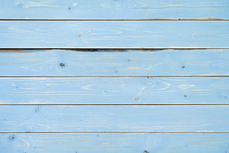 Blue painted vintage wooden planks table background stock photography