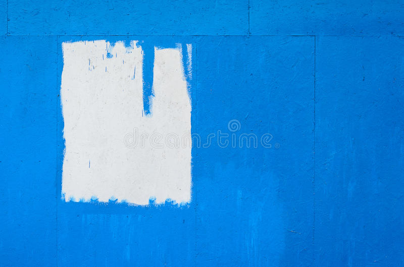 Blue painted wooden texture. Blue painted chipboard texture. Construction panel. Paint wood background stock image
