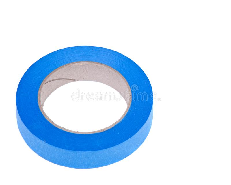Blue painter`s tape for multi surfaces stock images