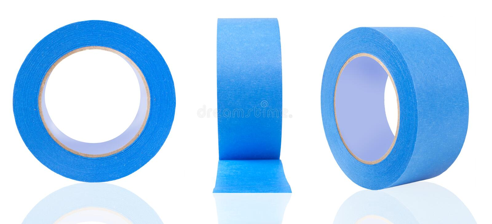 Blue Painter`s Tape stock images