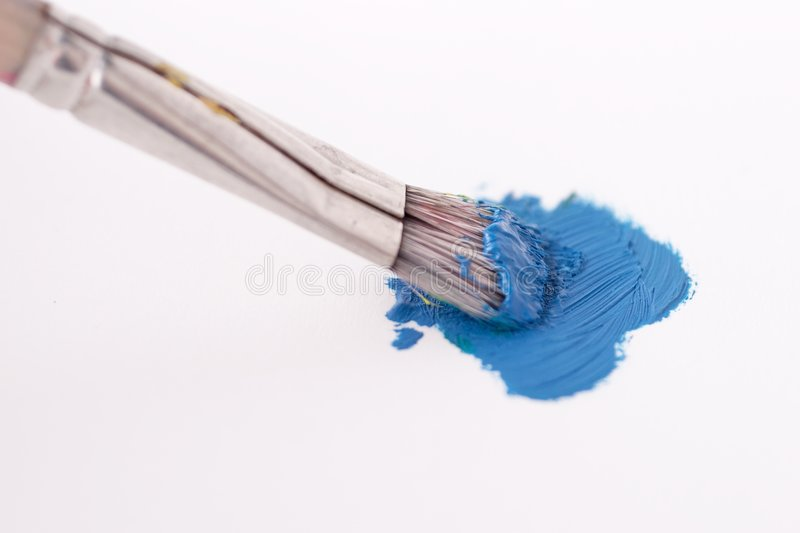 Blue painting stock image
