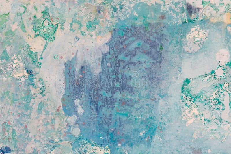 Blue painting texture for your effective new design. stock photos