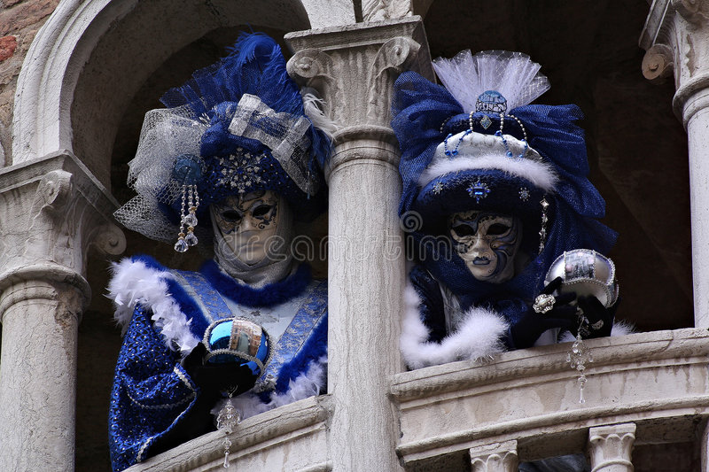 Blue pair royalty free stock images