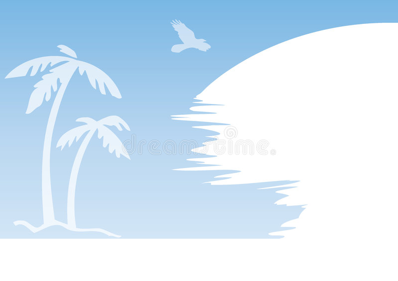 Blue Palm Abstract Stock Images