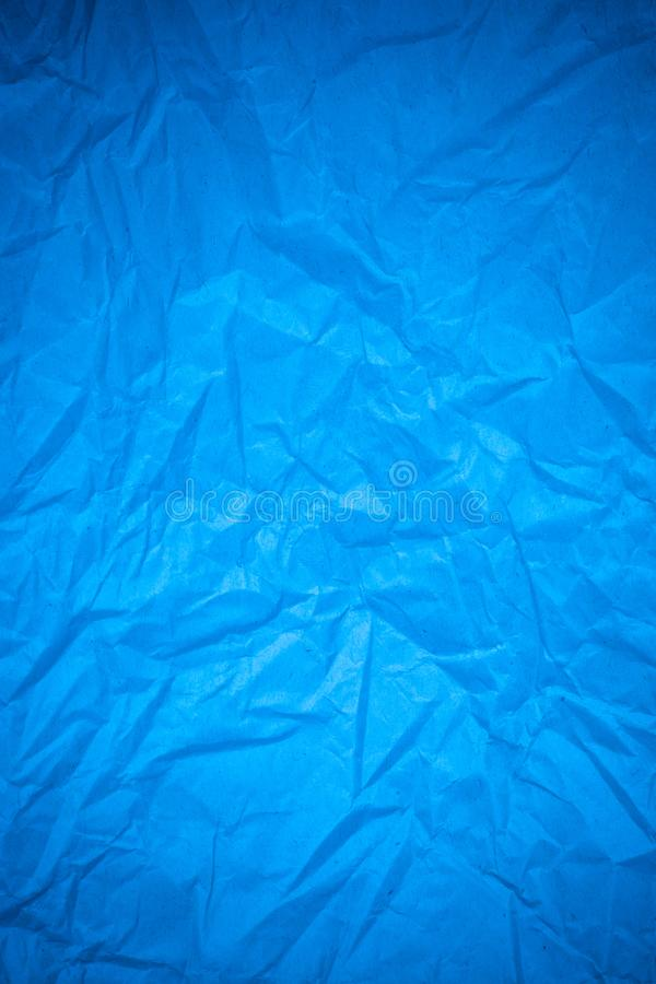 Blue paper crumpled royalty free stock image