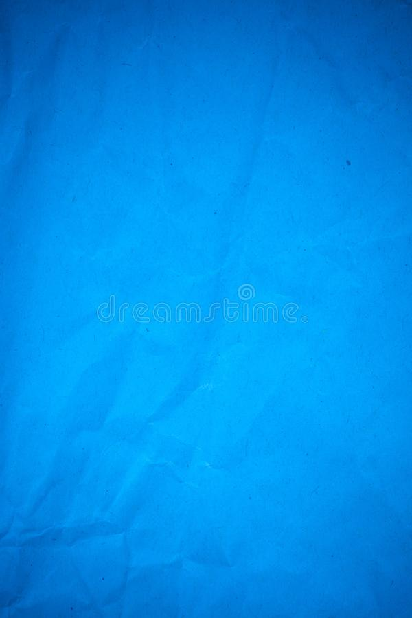Blue paper crumpled royalty free stock photos