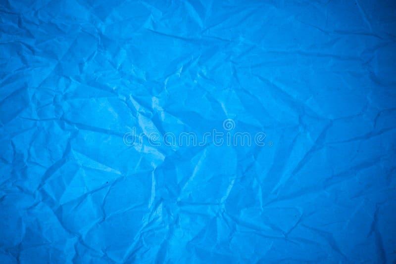 Blue paper crumpled stock photos