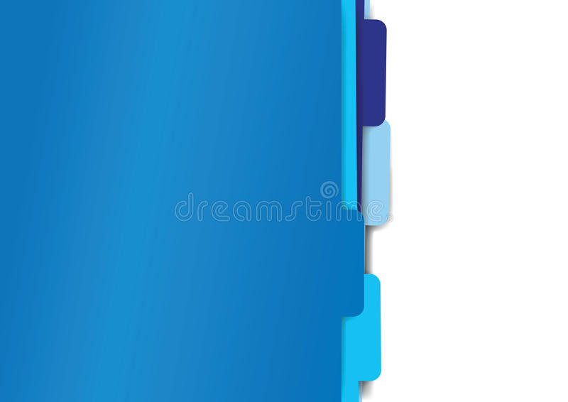 Blue paper folder files stock illustration