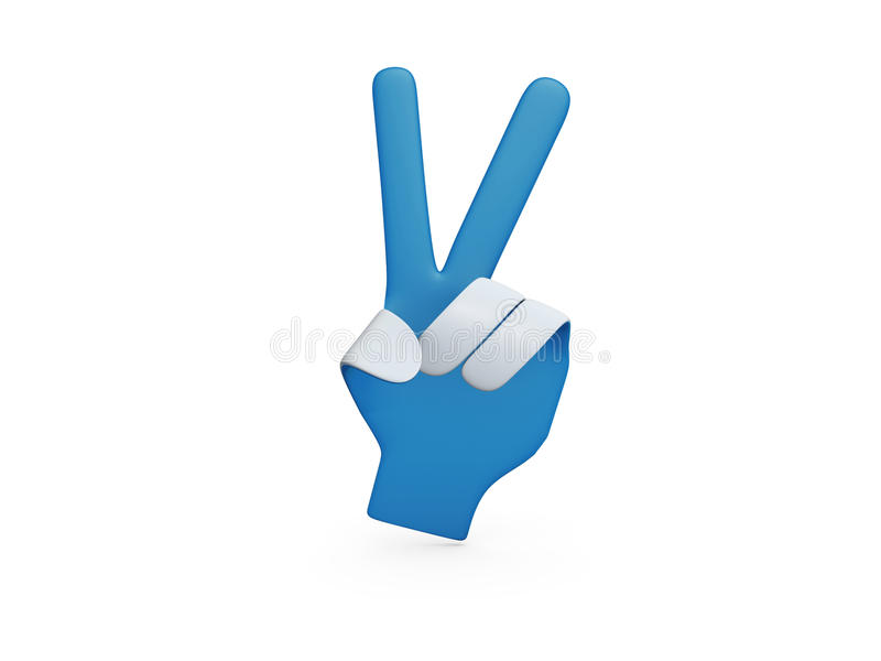 Blue Paper Hand Yeah Royalty Free Stock Images