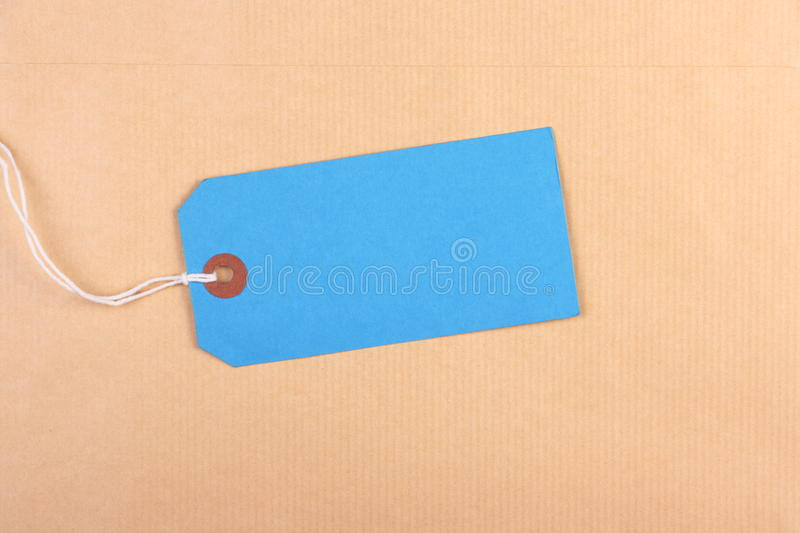 Download Blue Paper Luggage Tag stock photo. Image of copy, blank - 16913526