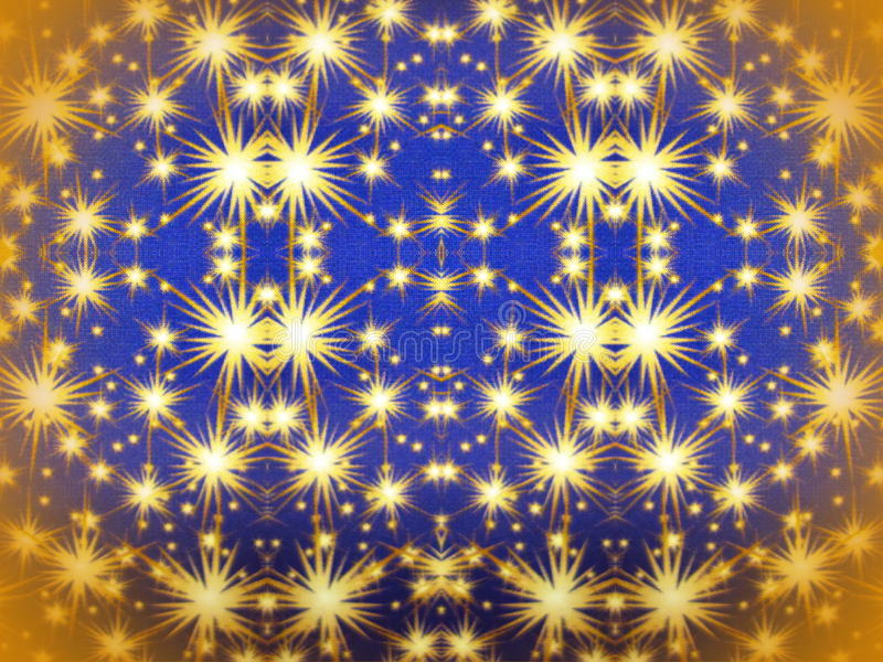 Blue paper with painted stars. Blue paper with golden painted stars royalty free illustration