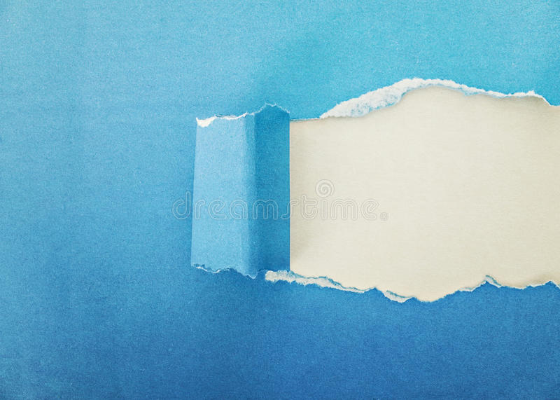 Download Blue paper torn stock image. Image of rend, background - 42742491