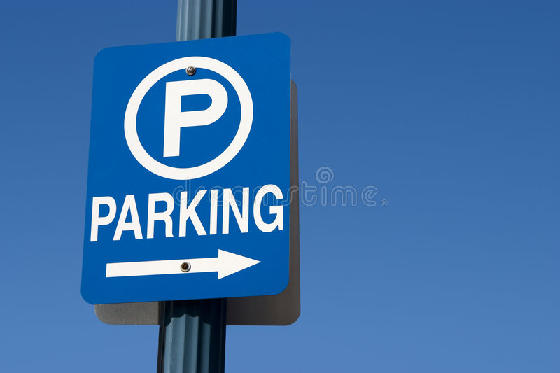 Blue Parking Sign stock photo