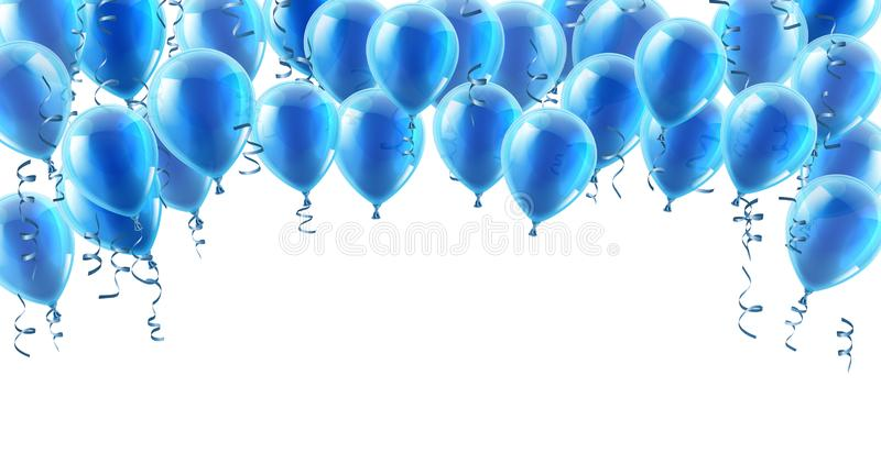 Blue Party Balloons Background royalty free illustration