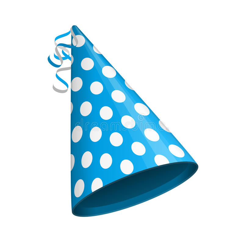 Blue party hat. vector illustration