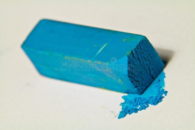 Blue pastel artists chalk. royalty free stock photos