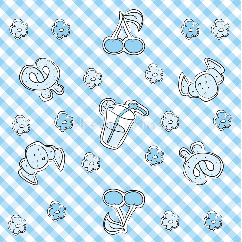 Download Blue Pastel Baby Background Stock Vector - Image: 10067141