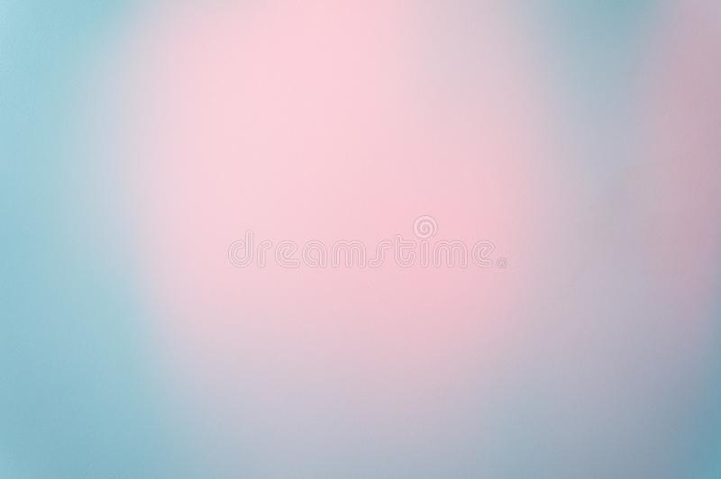 Blue Pastel Background Paper Texture Pattern Soft Focus Photo With Pink Pastel In The Middle, Abstract Art Background royalty free stock photography