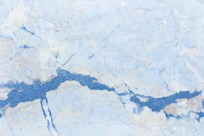 Blue pastel marble background with luxury pattern texture and high resolution for design art work. Natural tiles stone royalty free stock photos