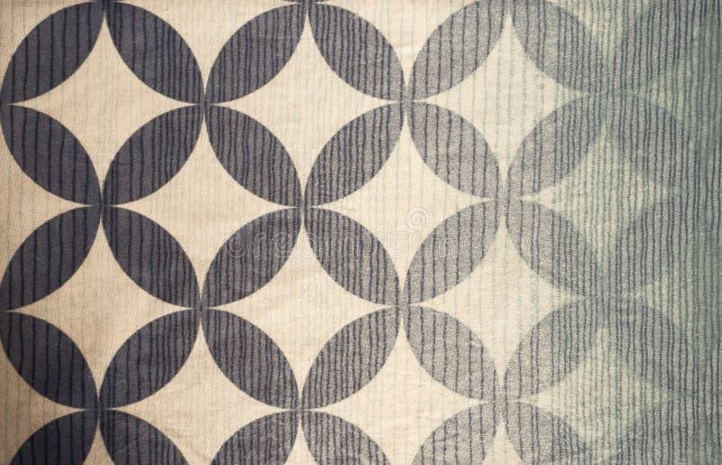 Blue patern fabric background grunge. Blue patern fabric round shape background royalty free stock photo