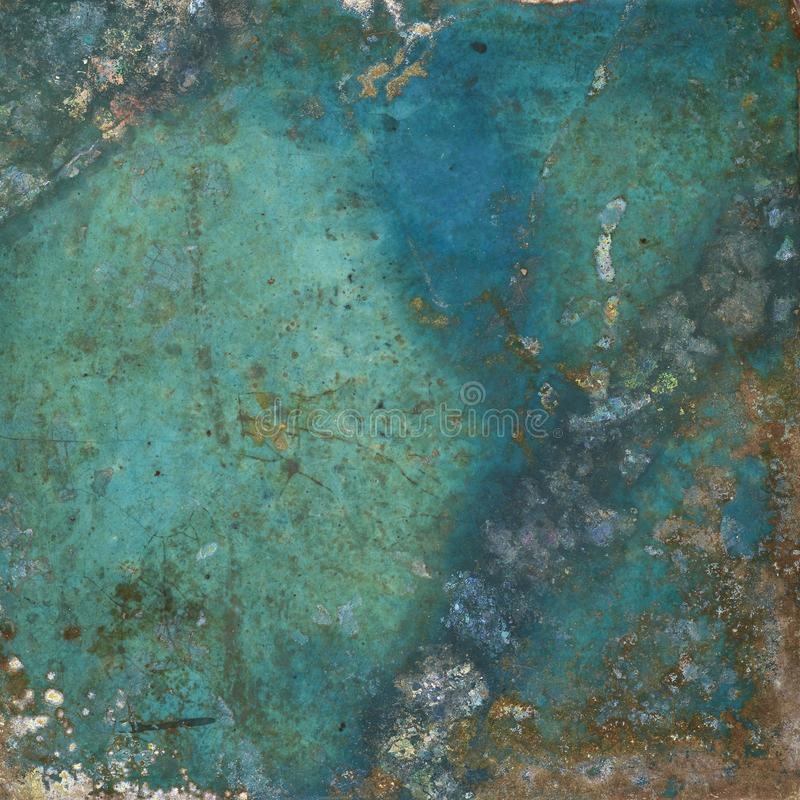 Ancient Blue Patina Background stock images