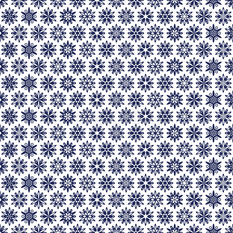 Blue pattern. An openwork blue pattern of ethnic style royalty free illustration