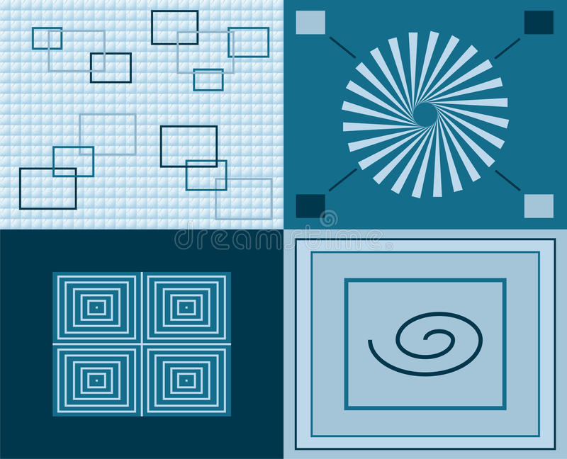 Blue pattern series stock photography
