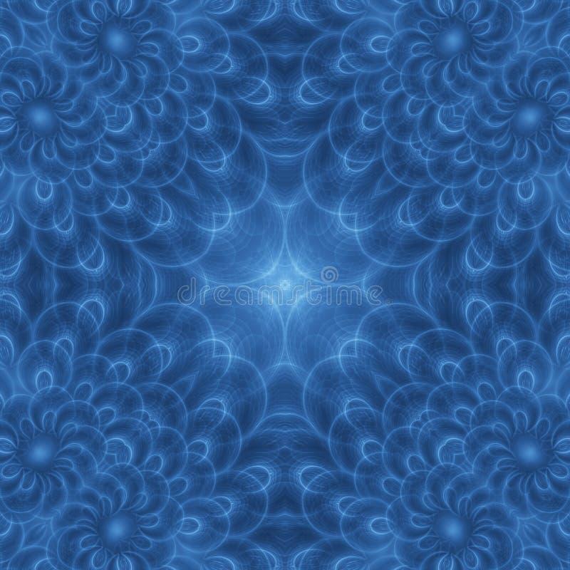 Blue pea feather flower stock illustration